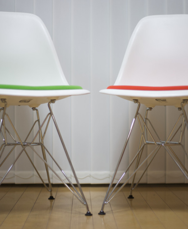"Gene Jackson: Designer Chairs, "" Eames Duo Front 3"""