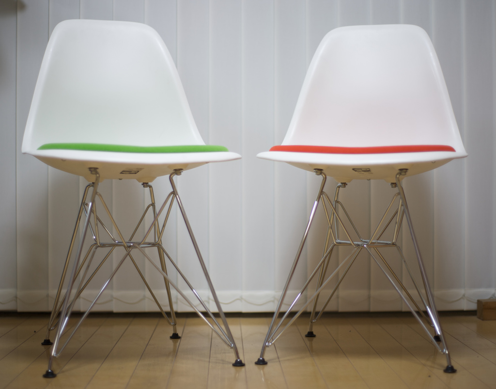 """Gene Jackson: Designer Chairs, """" Eames Duo Front 3"""""""
