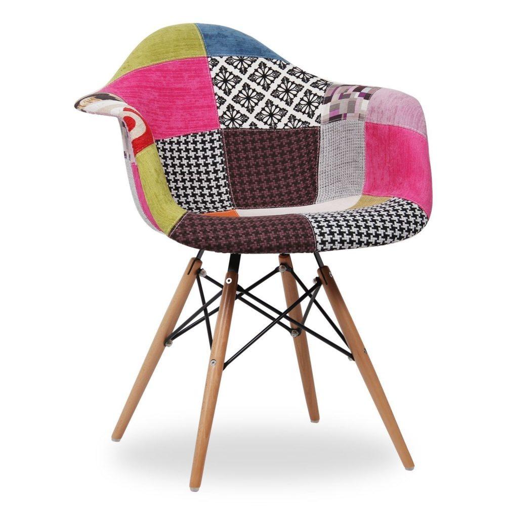 Patchwork Stuhl inspiriert von Eames