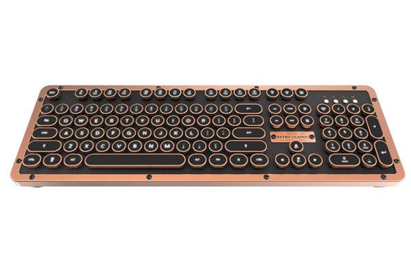 Azio Retro Tastatur Artisan Bluetooth